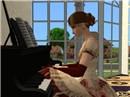 Charlotte at the piano