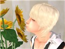 with sunflower:D