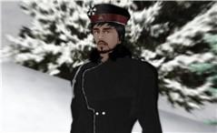 Cossack in the snow