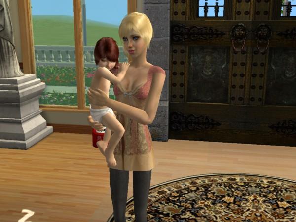 Zoe Carter with daughter Jezebel Carter