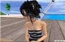 narkissa in white sand beach_2