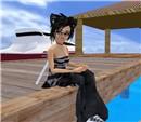 narkissa in white sand beach_5