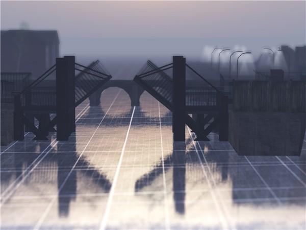 WindlLighted Cannery Bridge - Tilt Shift