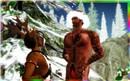 Naughty Reindeer hides Santa's suit