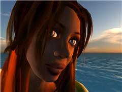 jaja at the beach