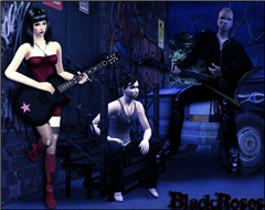 Punk/Rock Band: Black Roses on the stage