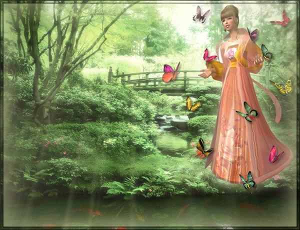 Spring In A Zen Garden