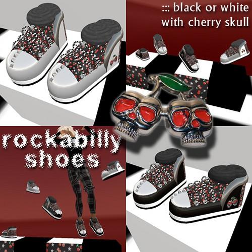Rockabilly Skull shoes