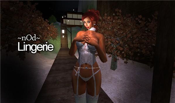 ~nOd~ Stores - Lingerie Set 01 White 1/3