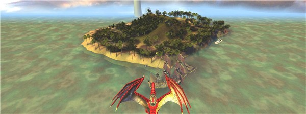 Dragon heads for Mellanium Island