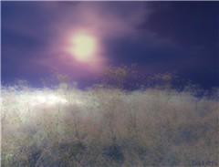 The Moon wears Purple