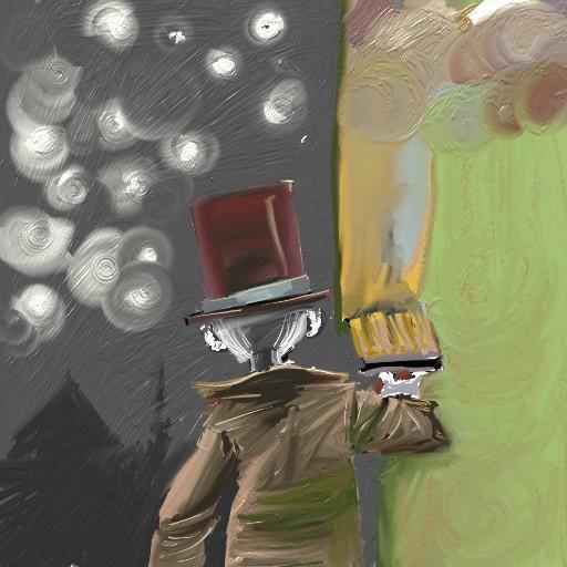 chromanoid paints his house walls