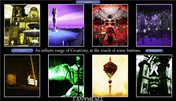 Quintessence In Second Life: Infinite Creativity (at the touch of some buttons)