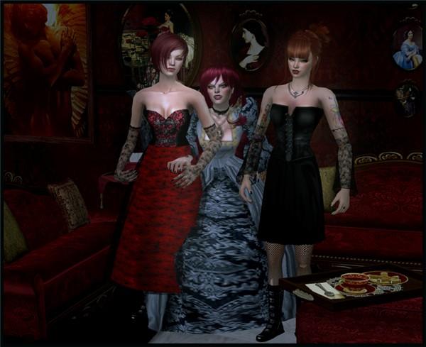 three doomed girls--sign of WRATH