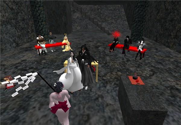 Elves, vampires, samurais... What the hell... Oh! A wedding into Genji Demons' Secret Dojo!