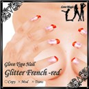 Glitter French-red