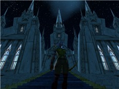 Stormwind cathedral at night