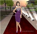 Acid glittering dress purple
