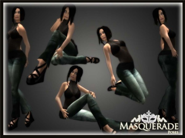 Masquerade-pose pack freebie