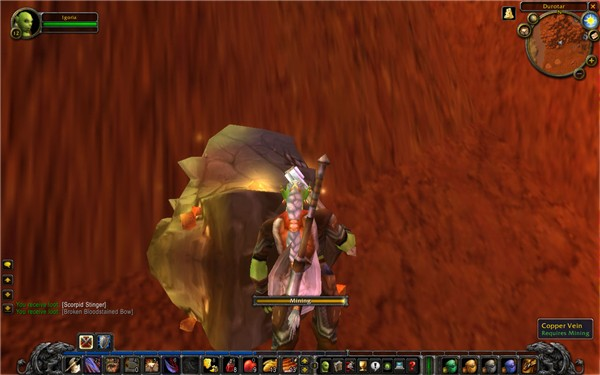 Just mining some copper in Durotar 2