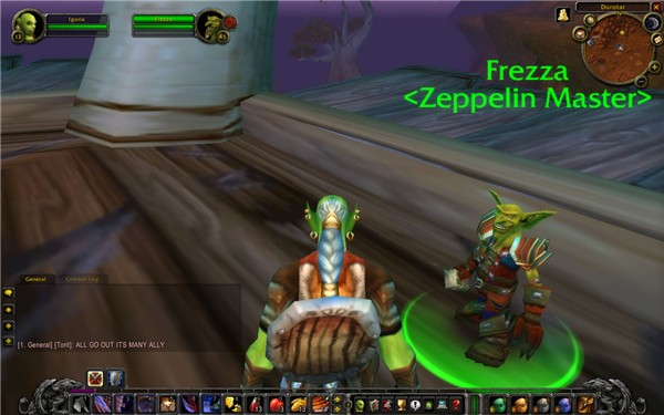 Frezza, Zeppelin Master in durotar, just out of Orgrimmar