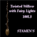 Twister Willow with Fairy Lights