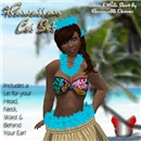 Hawaiian Lei Set - Matches Reasonable Desires Hula Girl Bikini & Grass Skirt