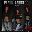 Plaid Bangles - Gold