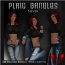 Plaid Bangles - Silver