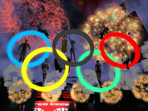 Olympic rings in RMB City
