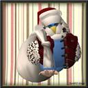 Budgerigar Santa