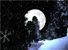 Moon and the Snowman