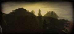 sunset over dark isle