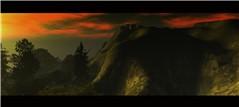 dark isle sunset