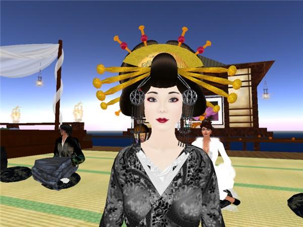 Geishas at Asagao