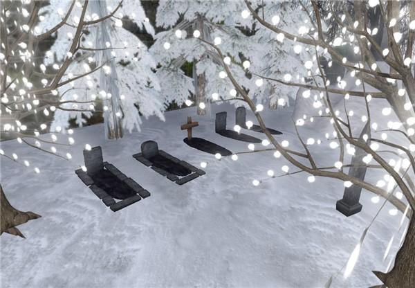 Snowy graves, winter goth
