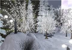 Goth winter landscape