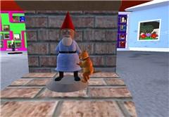 Dog humping garden dwarf