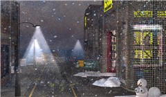 Snowing in Urban Second Life - Koinup Burt