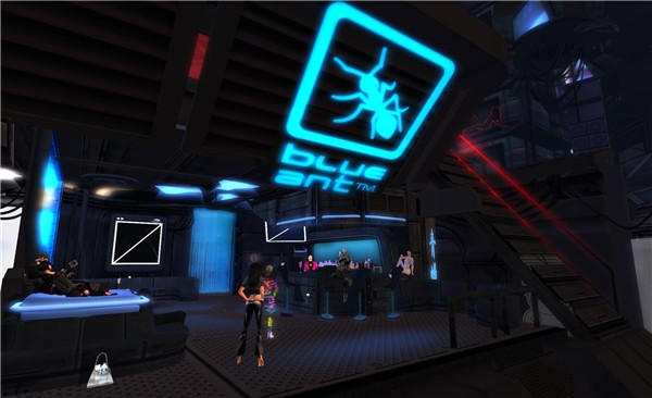 Blue Ant cyberpunk bar @ INSILICO - Torley Linden