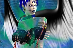 Winged goddess or a silent radio