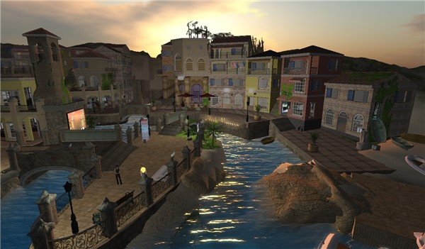 Kijiji, a village in Second Life - Koinup Burt