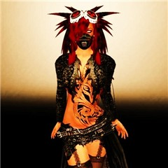 Cyber goth meets Combat Chick