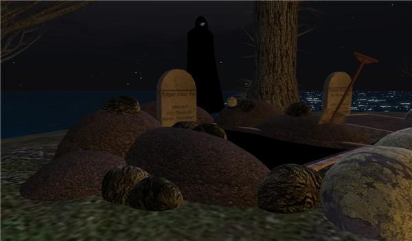 Edgar Allan Poe Grave is in Second Life - Koinup Burt