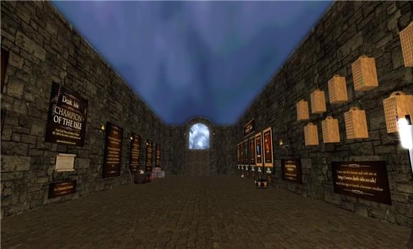 new dark isle entry hall - watcher Castaignede