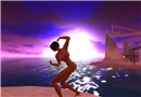 Nude purple sunset