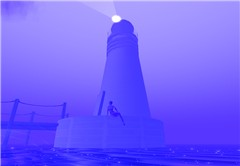 Lighthouse, lost in the fog