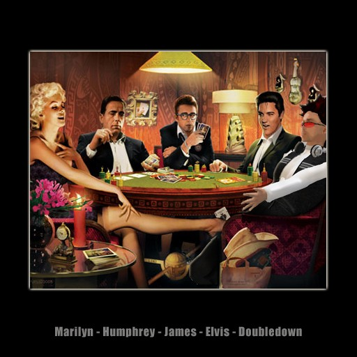 Poker - Marilyn, Humphrey, James, Elvis, Doubledown