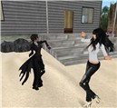 kandy roussel and raftwet at dj bridgitte boucher party