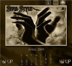 APRIL Calendar - Sepia Style Group